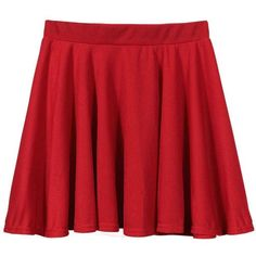 Yoins Red Skater Skirt -Red  M/L (13 CAD) ❤ liked on Polyvore featuring skirts, bottoms, red, circle skirt, high waisted flared skirt, high waisted pleated skirt, high waisted skirts and red skater skirt