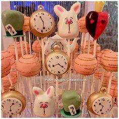 Alice in Wonderland theme cake pops for the sweetest 16 year old @alissa_krystal May you have an a...