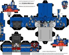 Custom Transformers Cut out templates of paper toys i've made. All my Transformers Cubeecraft fan art designs are based on Characters originally from Hasbro / Takara Transformers Series of Toys and...