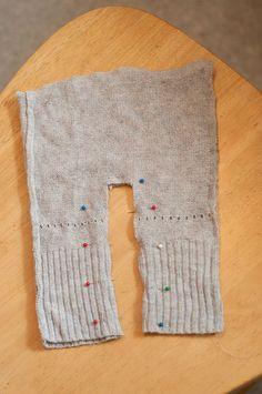 Upcycled newborn pants