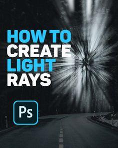Photoshop Video, Photoshop Design, Photoshop Tutorial, Graphic Design Lessons, Graphic Design Tutorials, Formation Photoshop, Pc Photo, Light Rays, Photoshop Photography