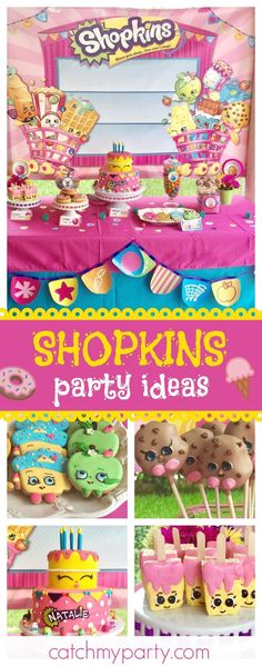Take a look at this lovely Shopkins birthday party! The dessert table is awesome!! See more party ideas and share yours at CatchMyParty.com