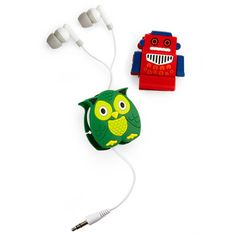Rubber earbud cord wrappers (JCPenney, $3 each)