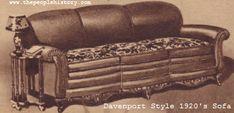 Twenties Davenport Sofa Sold for $88.50 in the 1920s.