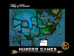 Map of Panem .... Where I live now will be off the coast of District 12