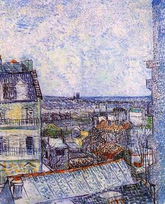 Vincent van Gogh. View of Paris from Vincent s Room in the Rue Lepic