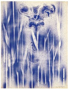Yves Klein  Cosmogonie sans titre (COS 17), 1960, 64 x 49,5 cm.  via:yveskleinarchives.org