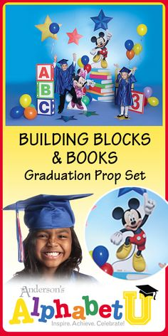 c965b93e4fe Book a great Preschool or Kindergarten graduation ceremony with this  Building Blocks and Books Prop Kit