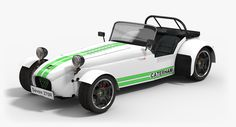 The #Caterham 7 is a lightweight sports car produced by Caterham Cars in the United Kingdom. It is based on the #Lotus Seven, a lightweight sports car sold in kit and factory-built form by Lotus Cars. We would like to present 3 different models of the car, and perhaps let's start with #lowpoly #3Dmodel of Caterham Seven R270. #opticaldreamsoft