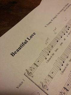 Jazz-lauluryhmämme ensimmäinen nuotti I Beautiful Love I sov. H. Lahtinen