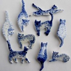 Cat Brooches / Harriet Damave