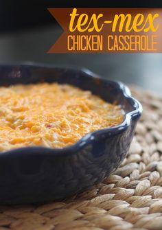 Tex-Mex Chicken & Rice Casserole