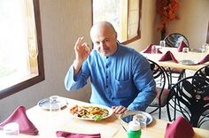 Simply #loved it. He came to #dine and tried our #food for the first time. Many thanks for coming. www.govindasdelhi.com