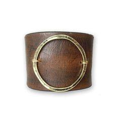 Leather Statement Bracelet-Joanna Gaines Jewelry от PunchVintage