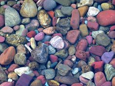 rocks along Lake McDonald, Glacier National Park, by Abizeleth