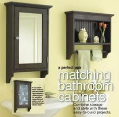31-dp-00457 - Matching Bathroom Cabinets Downloadable Woodworking Plan PDF…