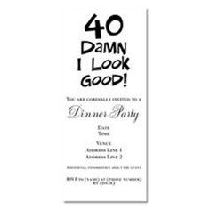 Ideas For 40th Birthday Invitation Wording