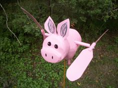 Flying Pig Whirligig by rnbfarm on Etsy, $25.00