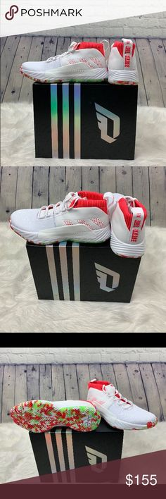 huge selection of 134fc d8120 Mens Adidas Dame 5 Size 11 WhiteNeon BB9312670 Mens Adidas Dame 5 Size  11