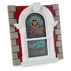 [Window frame]This unique photo frame is modelled after the windows found on Main Street U.S.A. at Walt Disney World's Magic Kingdom. Slip your own 5'' x 7'' vertical photo into the frame and you'll be peeking out from behind the lettered windows!