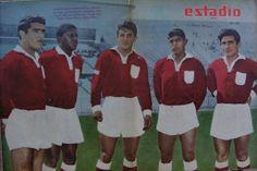 Delantera Deportes La Serena 1962: Jose Torres, Haroldo de Barros, Carlos Verdejo, Pedro Perez y Rene Ortiz