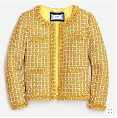 J Crew Outfits, Crew Clothing, Jackets For Women, Clothes For Women, Tweed Jacket, Fashion Pictures, Men Sweater, Lady, Mens Tops