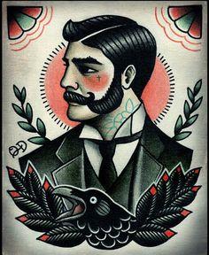 neo traditional man tattoo - Pesquisa Google
