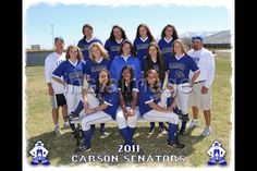 Softball Team Picture Poses | 2011 Carson High JV Softball Team…