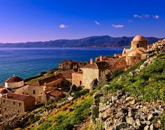 The unspoiled & breathtaking seaside landscapes of the Mediterranean; this area & its people have been shaped by years of history. Greece Destinations, Greece Islands, Acropolis, Ancient Greece, Greece Travel, Monument Valley, Seaside, Costa, Cruise