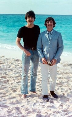 Paul McCartney and Richard Starkey (at the Beach)
