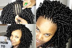 Braid hairstyles · how to fix beautiful crochet braids / curls [video] - http:// Curly Crochet Hair Styles, Crochet Braid Styles, Crochet Braids Hairstyles, Dread Hairstyles, African Braids Hairstyles, My Hairstyle, Twist Hairstyles, Curly Hair Styles, Natural Hair Styles
