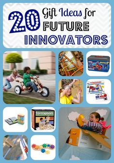 20 Gift Ideas for Future Innovators: blocks, erector set, snap circuits, marble runs, Gear toys, Legos, and more!