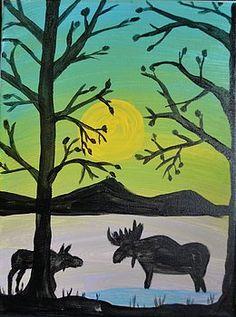 Moose at Dusk by Morgan McLaren