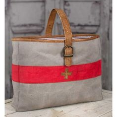 Swiss Army Carry All Bag-Vintage Inspired Bag x x Our Swiss Army Carry-All is made from soft canvas and leather. It features a ticking lining and Tote Handbags, Purses And Handbags, Tote Purse, Swiss Army Bag, Textiles, Carry All Bag, Market Bag, Canvas Leather, Satchel