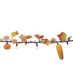 Fall For All Maple Leaves, Pumpkin & Corn Light Garland