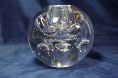 Leerdam Glas - heavy crystal serica vase with air bubbles - Catawiki