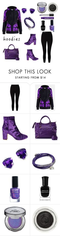 Untitled #873 by siriusfunbysheila1954 on Polyvore featuring Miss Selfridge, Polly Plume, Balenciaga, NOVICA, Illamasqua, Urban Decay, Charlotte Russe, Deborah Lippmann, Cirque Colors and Hoodies