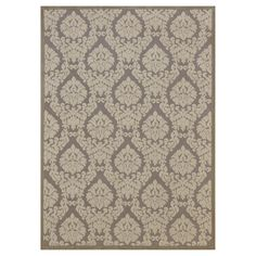 """Nourison Damask Ultima Accent Rug - Silver/Ivory (3'6""""X5'6"""")"""