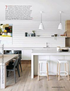 Contemporary style kitchen from House and Garden Australia