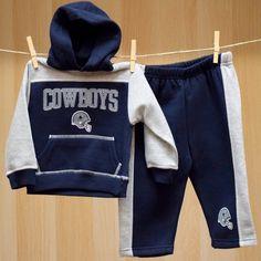 Cowboys Infant Ripley Fleece Hood Set
