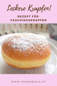 A very tasty and simple recipe for delicious carnival donuts - absolutely .- sehr leckeres und einfaches Rezept für leckere Faschingskrapfen – unbedingt… A very tasty and simple recipe for delicious carnival donuts – definitely try it! Pastry Recipes, Paleo Recipes, Sweet Recipes, Baking Recipes, Dessert Recipes, Desserts, Beignets, Vegan Brownie, Vegan Pancakes