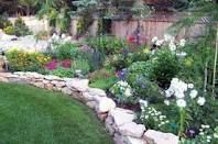 Garden Perennials, Landscaping Borders and Easy Landscaping Ideas Garden Border Stones, Garden Borders, Wall Borders, Landscape Borders, Landscape Design, Garden Design, Nice Landscape, Landscaping With Rocks, Backyard Landscaping