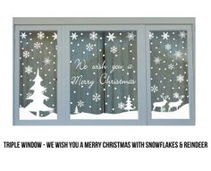 Christmas Window Signs – Fun for Christmas & Halloween Christmas Window Stickers, Christmas Window Decorations, Christmas Window Display Home, Noel Christmas, Winter Christmas, Christmas Crafts, Christmas Windows, Christmas Vinyl, Xmas Holidays
