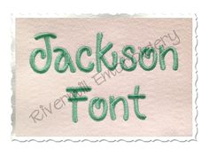 """$1.951 1/2"""" Inch Size ONLY Jackson Machine Embroidery Font"""