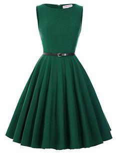 50s Rockabilly Kleid Festliches Kleid Partykleider Cocktailkleider GD6086 New: Amazon.de: Bekleidung