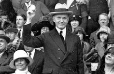 30th President of the United States Calvin Coolidge gets set to throw out the first pitch of the 1924 World Series (Photo by AP.)