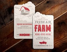 Fresh Air Farm Business Card by Whiskey Design