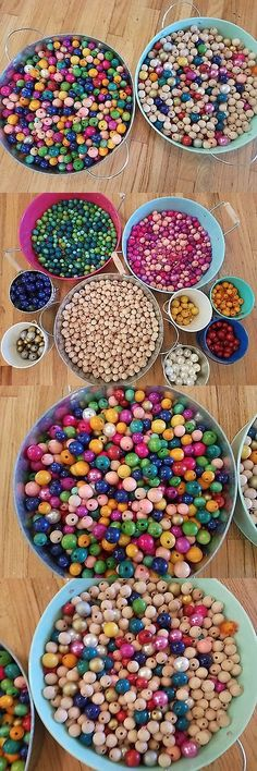 Other Macram 28151: Large Lot Wooden Acrylic Craft Beads Assorted Colors (1000+ Pieces) Camp Crafts -> BUY IT NOW ONLY: $35 on eBay!