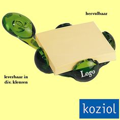 100x Koziol ARCHIBALD memohouder relatiegeschenken als kunst op uw bureau