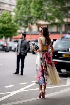 Floral dress and super high heel